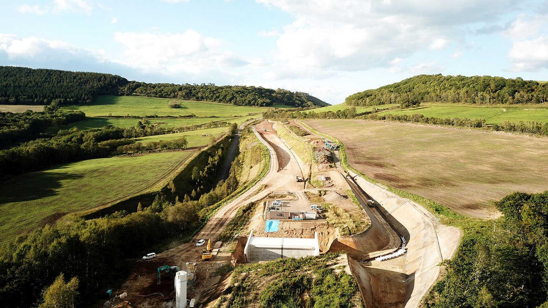 北海道横断自動車道 陸別町川上改良工事